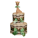 Green Polka Organic Cloth Diaper Cake