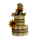 Organic Monkey Cloth Diaper Cake
