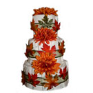 Organic 3 Tier Fall Fantasy Diaper Cake